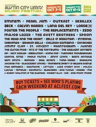 Lights All Night 2014 Lineup Austin City Limits Music Festival Reveals 2014 Lineup