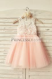 flower girl dress ivory lace blush pink tulle flower girl dress