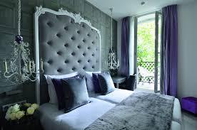chambre bleu et mauve deco chambre baroque moderne