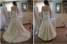 wedding dress bustle may i see pro pics of you in your dress with no weddingbee