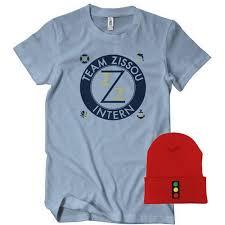 Team Zissou Halloween Costume Team Zissou Costume Shirt Hat Combo Textual Tees
