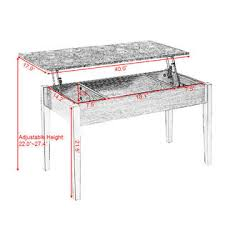 marble lift top coffee table goplus faux marble lift top coffee table w hidden storage