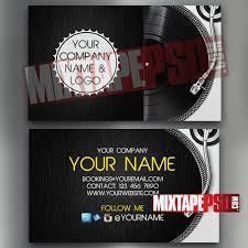 Design Your Own Business Cards Free Online Dj Business Card Template 8 Mixtapepsd Com