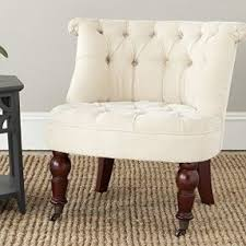 white tufted arm chairs foter