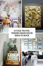 31 cool travel themed home decor ideas to rock digsdigs rock 31 cool travel themed home decor ideas to rock