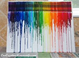 How To Remove Crayon From Walls by One Creative Housewife Melted Crayon Art