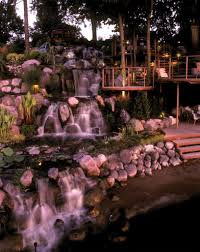 waterfall construction and design water feature and pond design