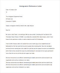 character reference letter for immigration template character