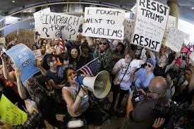 Protests at u s airports over travel ban