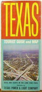 texas power and light company 1964 texas power and light tourist guide illustrated map brochure