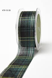 plaid ribbon 1 5 inch black green gold plaid ribbon buy ribbons online