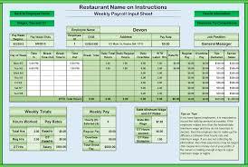 Drawer Balance Sheet Template Cumberland Pennsylvania Restaurant Consultants Restaurant