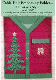 cable knit christmas christmas sweater with the cable knit embossing folder s