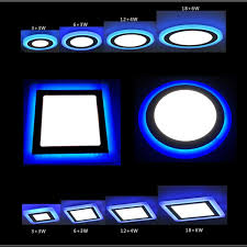 2017 wholesale new blue white led panel downlight 5w 9w 16w 24w 3