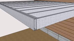 light gauge steel deck framing steel frame kit assembly overview outer space deck systems youtube