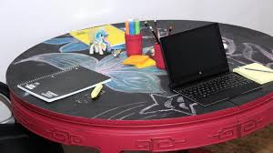 Kids Coloring Table Diy Kids Table For Work U0026 Play Using Valspar Paint Chalky Finish