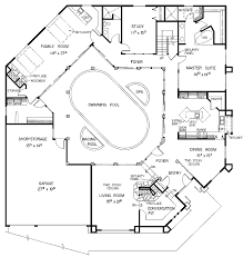 pool house plans with bedroom floor plan house plans with pool u shaped courtyard floor plan in