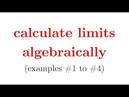 evaluate limits algebraically w worksheet in description part1