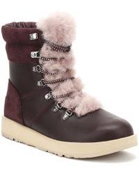 ugg womens frances boots black dear frances spirit port ankle boot last pair in lyst