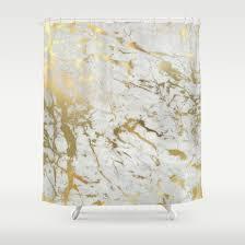 gold marble shower curtain by marta olga klara society6