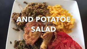thanksgiving food soul food mukbang fried chicken greens