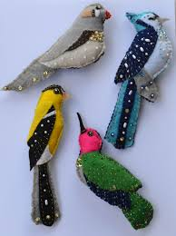 my bird ornaments one two