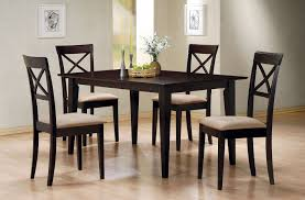 rectangle dining table set gabriel cappuccino 5pc rectangular dining set with criss cross back