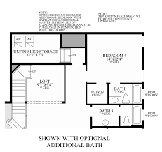 Bath Floor Plan by Julington Lakes Estate Collection The Catalina Home Design
