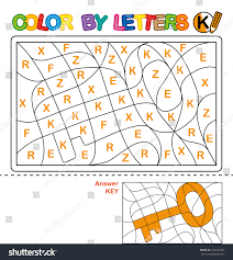 abc coloring book kids color by stock illustration 439301587
