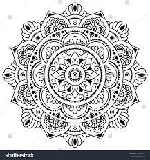 vector henna tatoo mandala mehndi styledecorative stock vector