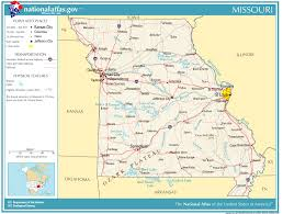missouri caves map united states geography for missouri