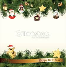 new year toys new year background with toys in handmade style vector