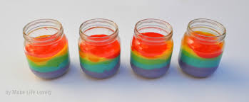 upcycled baby food jars rainbow cake in a jar make life lovely