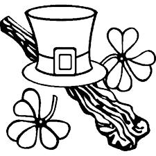 a leprechauns hat on st patricks day coloring page a leprechauns