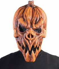 scarecrow halloween mask adults latex pumpkin scarecrow mask scary novelty costume