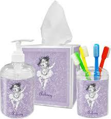 Lavender Bathroom Accessories by Ballerina Bathroom Accessories Set Personalized Youcustomizeit