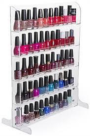 nail polish rack acrylic stand u0026 wall mount manicure bottle storage