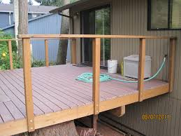 How To Build A Deck Handrail How To Build A Balcony Over Deck Howsto Co