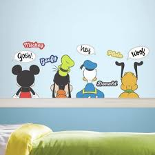 mickey mouse u0026 friends wall decals mickey mouse u0026 friends wall