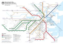 Map Chicago Metro by Future Mbta Rapid Transit With Key Bus Routes U2013 Large Cameron Booth