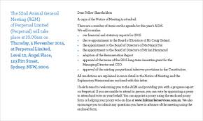 notice of meeting u2013 24 free word excel ppt pdf documents
