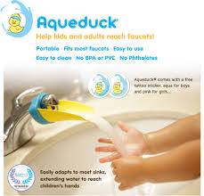 aqueduck faucet extender helps kids reach the faucet walmart com