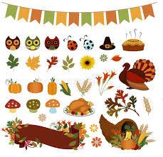autumn bounty thanksgiving vector clipart stock illustration