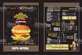 cuisiner un hamburger brochure ou un poster restaurant fast foods carte de hamburgers avec