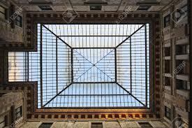 big rectangular skylight ceiling window in rome building stock