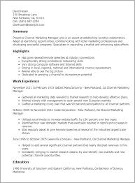 Marketing Manager Resume Sample Marketing Resume Templates To Impress Any Employer Livecareer