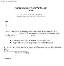 Free Sle Letter Of Employment Certification Employment Verification Letter Form Sample Templates