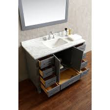 Where To Buy Bathroom Vanities by Buy Vincent 48 Inch Solid Wood Single Bathroom Vanity In Charcoal