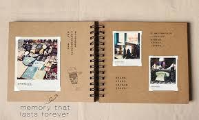 scrapbook photo album wedding guestbook 98 pages kraft scrapbook album spiral
