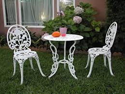 Aluminum Bistro Table And Chairs Outdoor Patio Furniture 3 Cast Aluminum Bistro